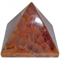 Pyramide en Agate Feu