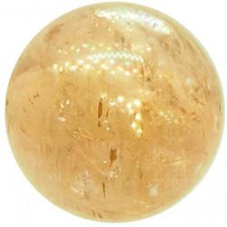 Sphère en Calcite Optique Jaune
