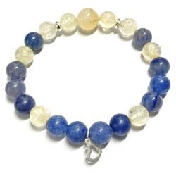 Bracelet en Citrine & Aventurine Bleue