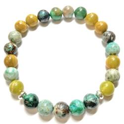 Bracelet en Jaspe Opale & Turquoise
