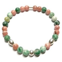 Bracelet en Rhodochrosite & Serpentine