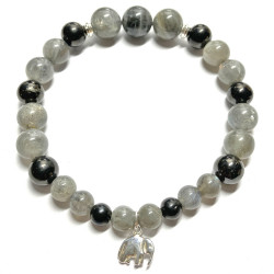 Bracelet en Labradorite & Shungite