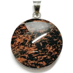 Pendentif en Obsidienne Acajou