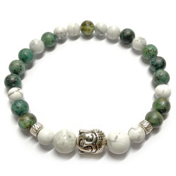 Bracelet en Howlite & Turquoise