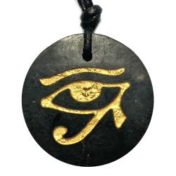 Pendentif Oeil d'Horus en Shungite