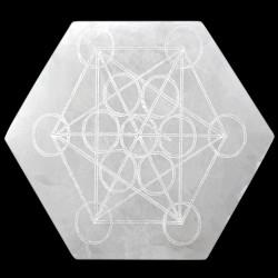 Hexagone Metatron en Sélénite