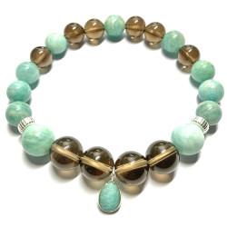 Bracelet Amazonite & Quartz Fumé