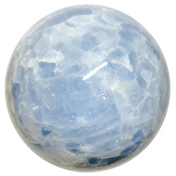Sphère en Calcite Bleue