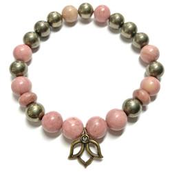 Bracelet en Pyrite & Rhodonite