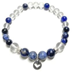 Bracelet Sodalite & Cristal de Roche