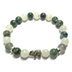 Bracelet en Jade & Agate Mousse