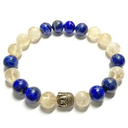 Bracelet en Lapis-Lazuli & Citrine