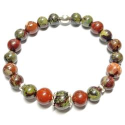 Bracelet en Jaspe Breschia & Dragon Stone