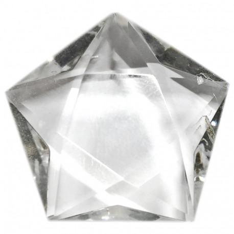 Pentagramme en Cristal de Roche