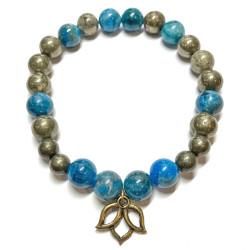 Bracelet en Pyrite & Apatite