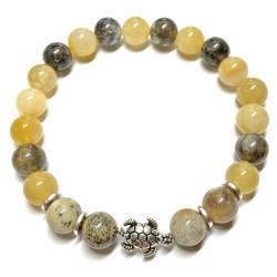Bracelet en Jade & Agate Dendritique