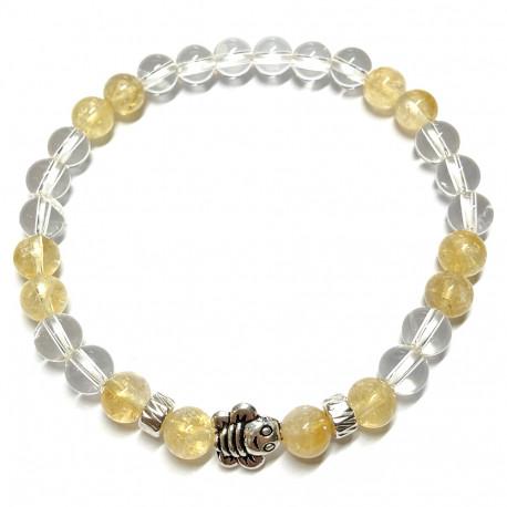Bracelet en Citrine & Cristal de Roche