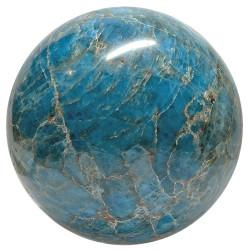 Sphère en Apatite Bleue