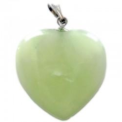 Pendentif Coeur en Jade de Chine