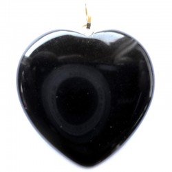 Pendentif Coeur en Onyx