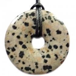 Pendentif Donut en Jaspe Dalmatien