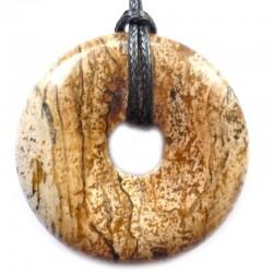 Pendentif Donut en Jaspe Paysage