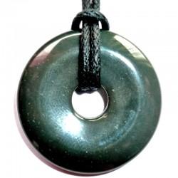 Pendentif Donut en Obsidienne Oeil Céleste