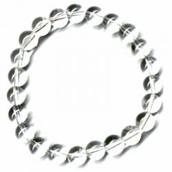 Bracelet Boules en Cristal de Roche