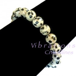 Bracelet Boules en Jaspe Dalmatien