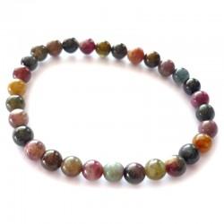Bracelet Boules en Tourmaline Multicolore