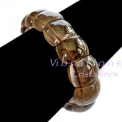 Bracelet en Quartz Fumé