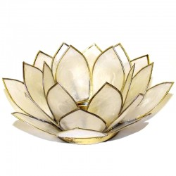 Photophore Lotus Blanc
