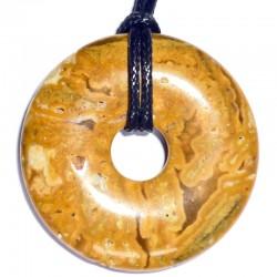 Pendentif Donut en Agate Crazy Lace