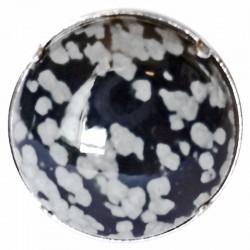 Bague Argent & Obsidienne Neige