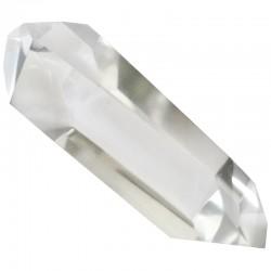 Pointe Biterminée en Cristal de Roche