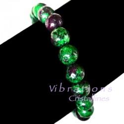 Bracelet Boules en Rubis sur Zoïsite