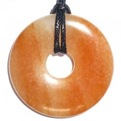 Pendentif Donut en Aventurine Rouge