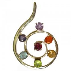 Pendentif Spirale 7 Chakras