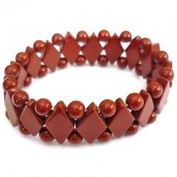 Bracelet Maya en Jaspe Rouge