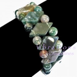 Bracelet Maya en Agate Mousse