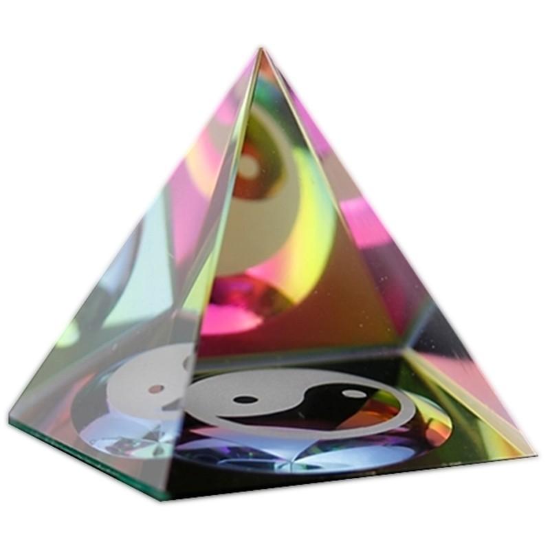 Pyramide de Cristal Yin & Yang
