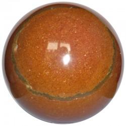 Sphère en Jaspe Rouge