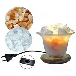 Lampe en Sel de l'Himalaya & Cristal de Roche