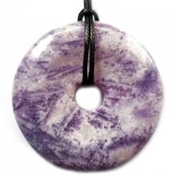 Pendentif Donut en Charoïte