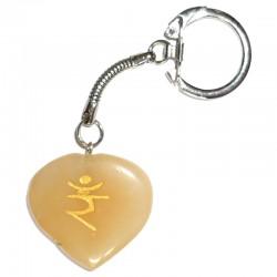 Porte-clés en Calcite Jaune