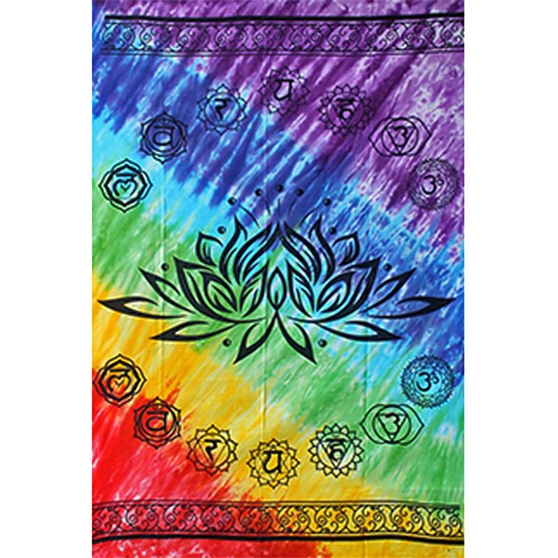 Tenture Lotus 7 Chakras