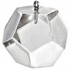 Pendule Dodécaèdre en Cristal de Roche