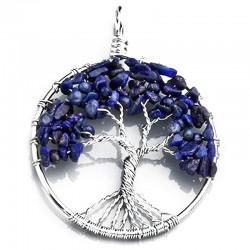 Pendentif Arbre de Vie en Lapis-Lazuli