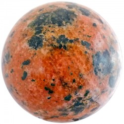 Sphère en Calcite Orange