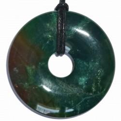 Pendentif Donut en Jaspe Héliotrope